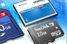 SanDisk SD Card; Crucial CompactFlash; SanDisk Micro-SD